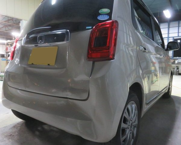 上田市  ホンダ Nワゴン N-WGN 追突 事故 交換 修理 保険 丁寧 きれい ぶつけられた
