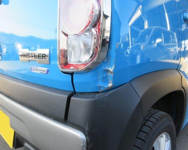 スズキ ハスラー 駐車場 事故 ヘコミ 修理 板金 塗装 上田市 東御市 小諸