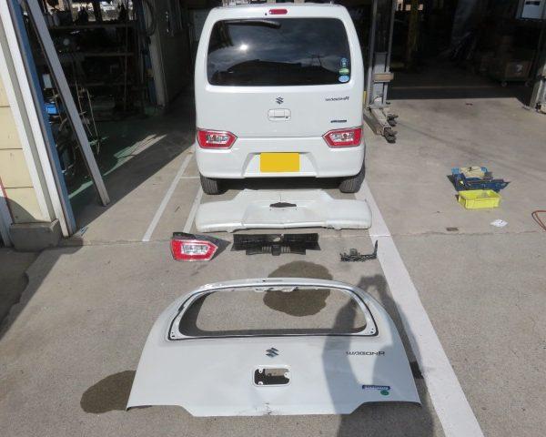 スズキ ワゴンR  上田市 板金 塗装 修理