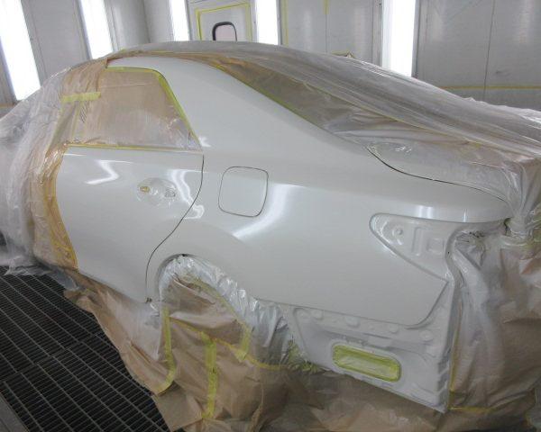 トヨタ マークX 鈑金 塗装 修理 上田 東御 小諸 佐久 キズ ヘコミ 安い 評判 代車 早い