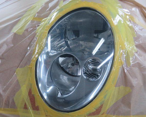 ミニ 外車 ヘッドランプ ヘッドライト 黄ばみ 汚れ コーティング クリーニング 上田 東御 小諸 佐久 安い 費用 料金