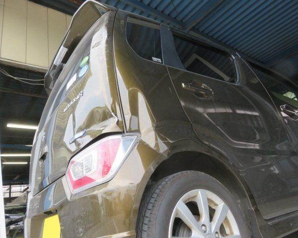 スズキ ワゴンR 追突 保険 修理 板金 塗装 修理 上田 小諸 東御 佐久 新しい キレイ 丁寧 評判